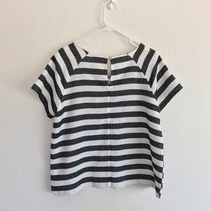 Merona Tops - Merona Black & White Striped Short Sleeve Top XL